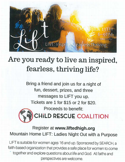 Lift Live Benefit @ Elks Lodge | Mountain Home | Idaho | United States