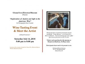 Wine Tasting Event & Meet the Artist @ Old School House Museum | Glenns Ferry | Idaho | United States