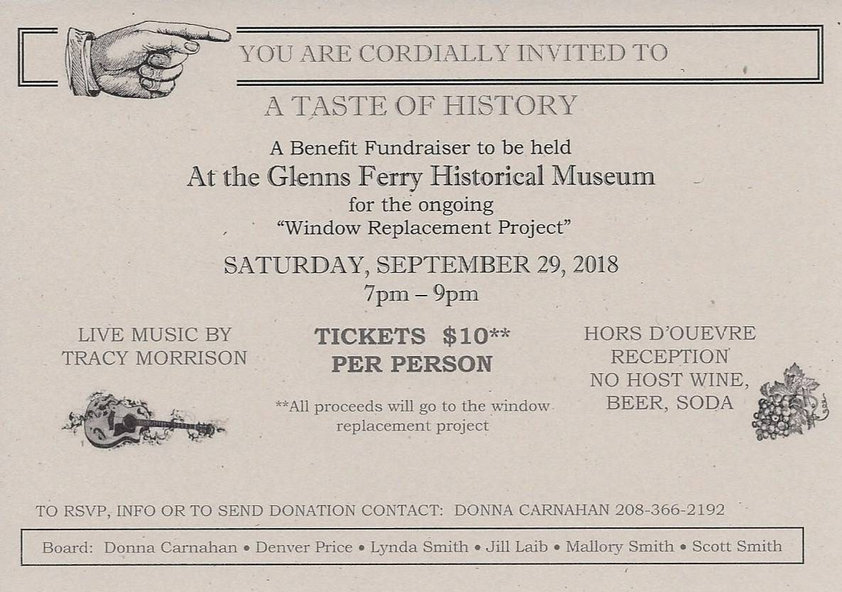 A Taste of History @ Glenns Ferry Historical Museum | Glenns Ferry | Idaho | United States